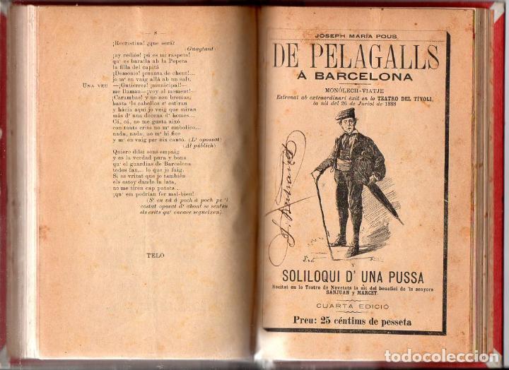 Libros antiguos: COLECCIÓ DE MONOLECHS - EN CATALÁN - 22 MONÓLOGOS COMPLETOS - VER LISTADO - Foto 3 - 90166136