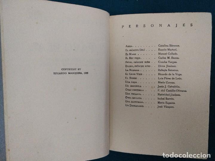 Libros antiguos: EL PAVO REAL. MARQUINA EDITORIAL REUS 1922. COMEDIA POETICA EN TRES ACTOS. TAPA DURA - Foto 3 - 90316076