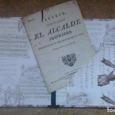 Libros antiguos: SAYNETE INTITULADO EL ALCALDE JUSTICIERO: PARA SEIS PERSONA. JUAN FRANCISCO PIFERRER ¡¡¡MUY RARO!!!. Lote 93701300