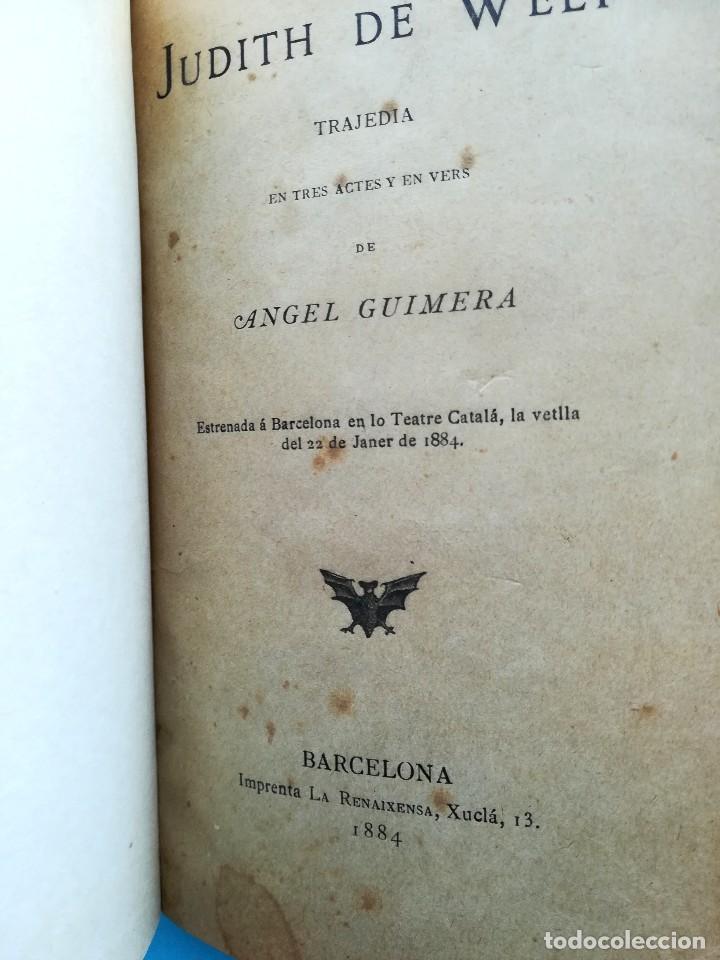 Libros antiguos: 2 LIBRO CON FIRMA-AUTOGRAFO DEL ESCRITOR ANGEL GUIMERA,AUTOR MAR I CEL,LITERATURA CATALANA,TEATRO - Foto 2 - 94522810