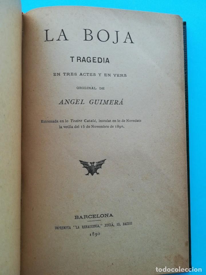 Libros antiguos: 2 LIBRO CON FIRMA-AUTOGRAFO DEL ESCRITOR ANGEL GUIMERA,AUTOR MAR I CEL,LITERATURA CATALANA,TEATRO - Foto 4 - 94522810