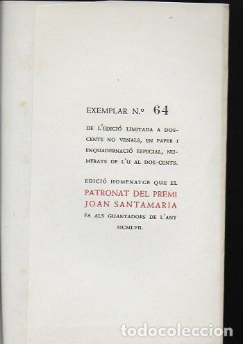 Libros antiguos: Cruma / M. de Pedrolo; Parasceve / Blai Bonet... BCN : Nereida, 1957 Ex. 64 de 200. 17x12cm. 107 p. - Foto 3 - 95232719