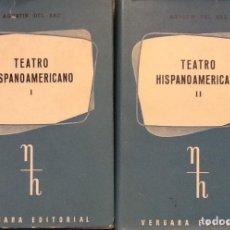 Libros antiguos: TEATRO HISPANOAMERICANO I-II AGUSTÍN DEL SAZ. Lote 95308023