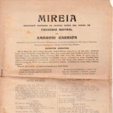 Libros antiguos: FREDERIC MISTRAL : MIREIA (BONAVÍA, C. 1920) ADAPTACIÓ ESCÈNICA DE AMBROSI CARRIÓN - TEATRE CATALÀ. Lote 95684191