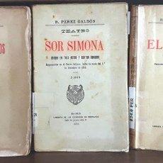 Libros antiguos: TEATRO. 3 EJEMPLARES. B. PÉREZ GALDÓS. LIBRERÍA HERNANDO. 1913/1933.. Lote 97761363