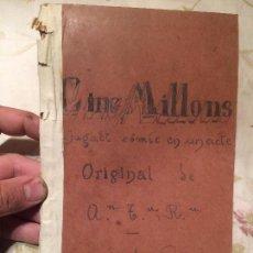 Libros antiguos: ANTIGUO LIBRO DE OBRA DE TEATRO JOGUINA COMICA EN UN ACTE AÑO 1947. Lote 98414179