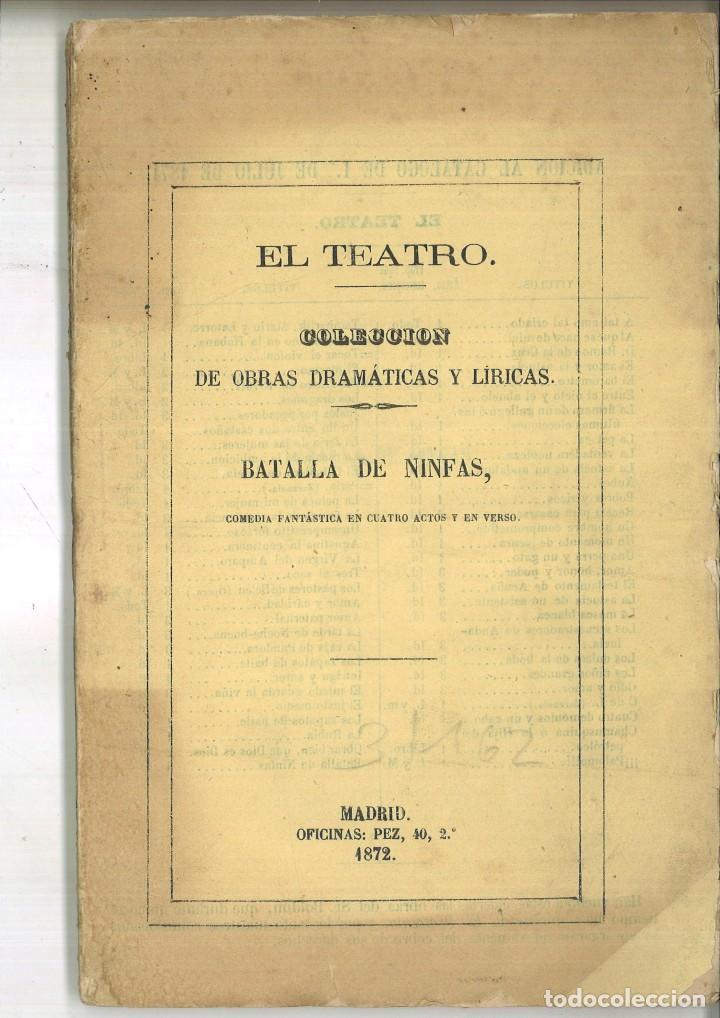 BATALLA DE NINFAS. ENRIQUE ZUMEL (Libros antiguos (hasta 1936), raros y curiosos - Literatura - Teatro)
