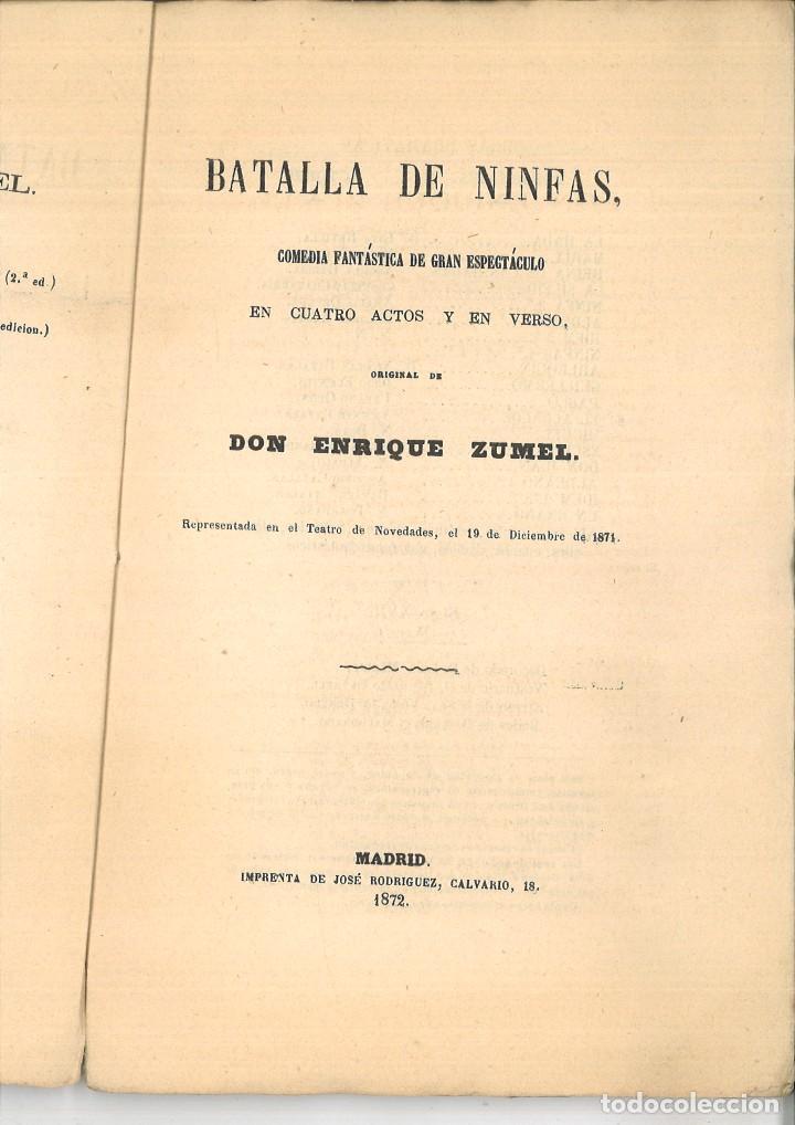 Libros antiguos: BATALLA DE NINFAS. Enrique Zumel - Foto 2 - 98796335