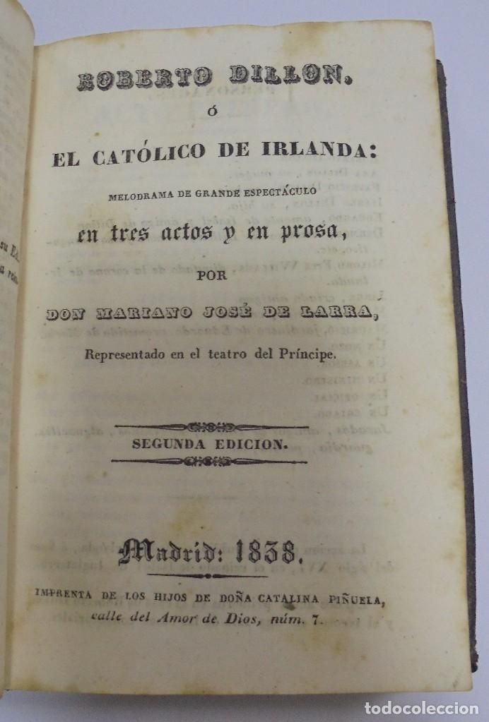 Libros antiguos: LARRA. 3 OBRAS. NO MAS MOSTRADOR/ROBERTO DILLON/FELIPE MAS UN DESAFIO DE RAMON DE ARRIALA. LEER - Foto 4 - 98920715