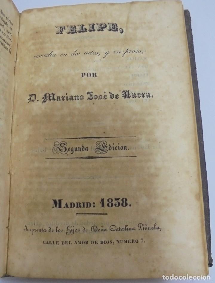 Libros antiguos: LARRA. 3 OBRAS. NO MAS MOSTRADOR/ROBERTO DILLON/FELIPE MAS UN DESAFIO DE RAMON DE ARRIALA. LEER - Foto 5 - 98920715