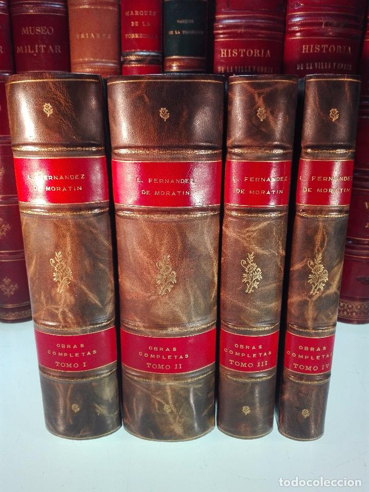 ORÍGENES DEL TEATRO ESPAÑOL - 4 TOMOS - LEANDRO FERNANDEZ DE MORATÍN - AGUADO - MADRID - 1830 - (Libros antiguos (hasta 1936), raros y curiosos - Literatura - Teatro)