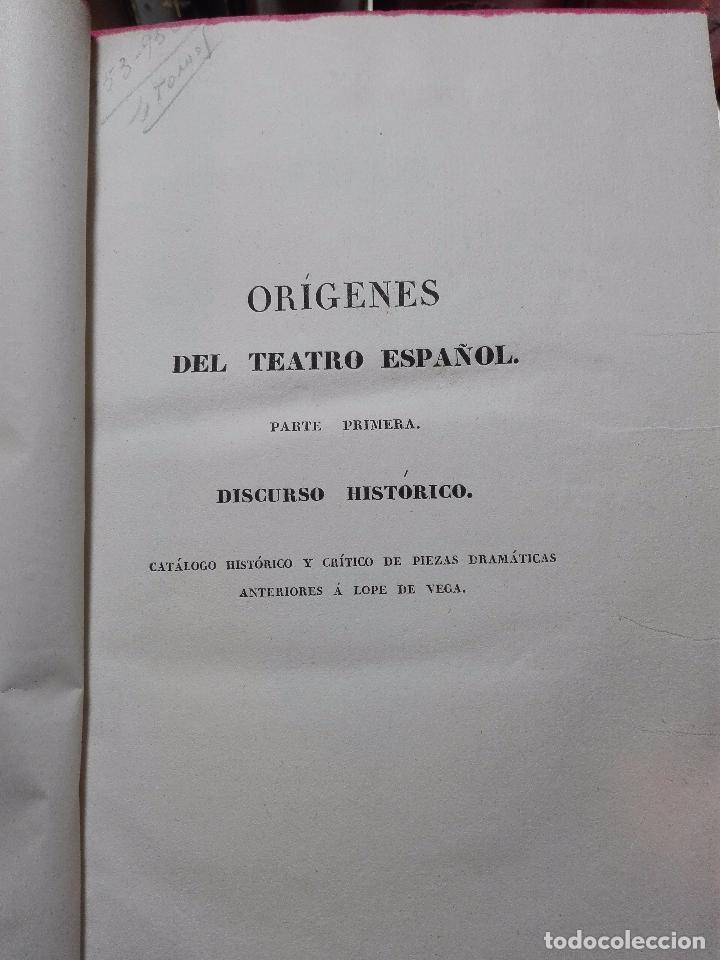 Libros antiguos: ORÍGENES DEL TEATRO ESPAÑOL - 4 TOMOS - LEANDRO FERNANDEZ DE MORATÍN - AGUADO - MADRID - 1830 - - Foto 5 - 100483931
