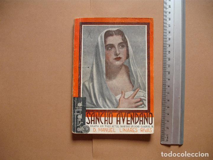LA FARSA.SANCHO AVENDAÑO. Nº 305 .MANUEL LINARES RIVAS . AÑO 1933 (Libros antiguos (hasta 1936), raros y curiosos - Literatura - Teatro)