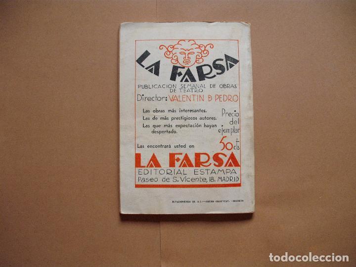 Libros antiguos: LA FARSA.SANCHO AVENDAÑO. Nº 305 .MANUEL LINARES RIVAS . AÑO 1933 - Foto 3 - 101185951