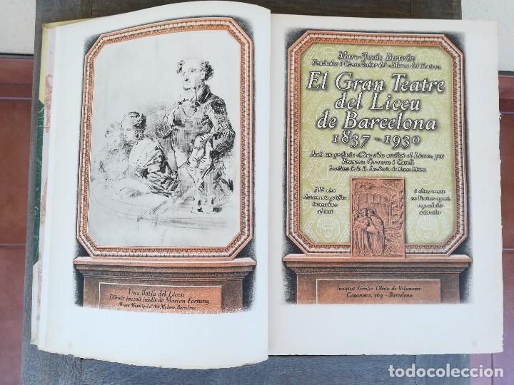 Libros antiguos: LIBRO EL GRAN TEATRO DEL LICEO DE BARCELONA 1837-1930,MEDALLA EMPERADOR NAPOLEON BONAPARTE,PERGAMINO - Foto 7 - 101207151