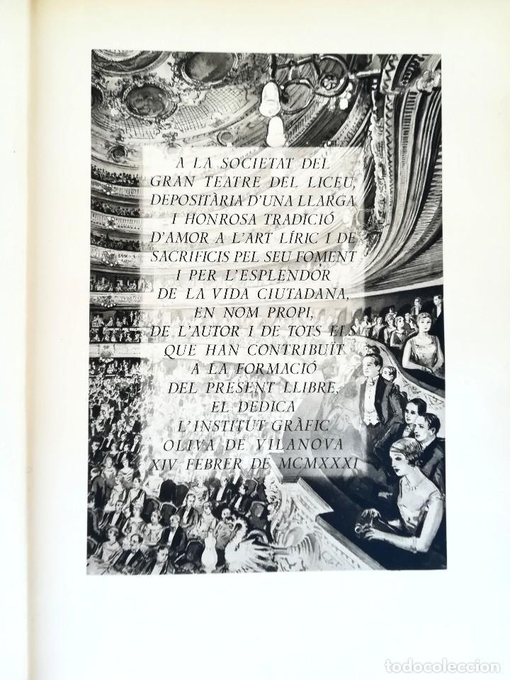 Libros antiguos: LIBRO EL GRAN TEATRO DEL LICEO DE BARCELONA 1837-1930,MEDALLA EMPERADOR NAPOLEON BONAPARTE,PERGAMINO - Foto 10 - 101207151