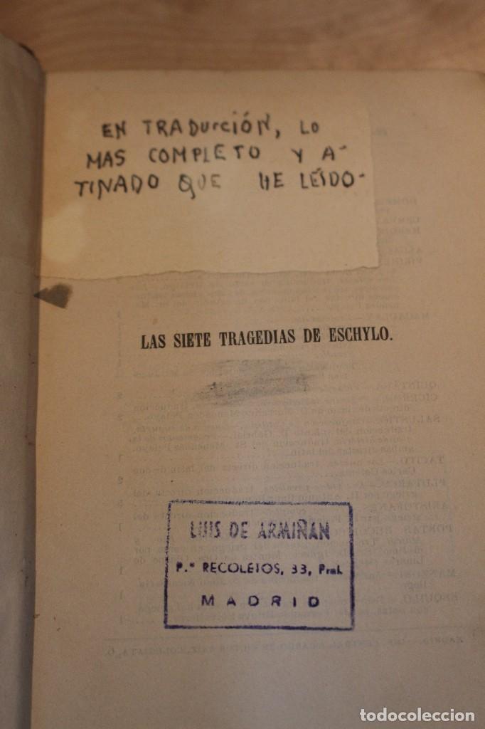 Libros antiguos: Las siete tragedias de Eschylo, 1880. 1º edición - Foto 2 - 101687055