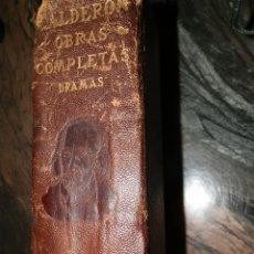Libros antiguos: CALDERON,OBRAS COMPLETAS,TEATRO,AGUILAR PIEL-BIBLIA,1ª 1932,TAPAS CON FATIGA,2310PP. VER IMAGENES.. Lote 102482687