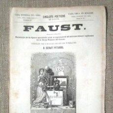 Libros antiguos: FAUST SERAFÍ PITARRA SINGLOTS POÉTICHS AB NINOTS 1866 2A ED I LOPEZ BERNAGOSI INTONS BON ESTAT ÓPERA. Lote 104896943