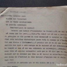 Libros antiguos: GUION DE SAINETE VALENCIANO, DESCONOZCO DE QUÉ SAINETE SE TRATA. VALENCIANO, CATALÁN. TEATRO.. Lote 105856467