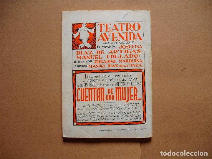 Libros antiguos: LA FARSA.CUENTAN DE UNA MUJER . 273 .ANTONIO F, LEPINA . AÑO 1932 - Foto 3 - 107773583