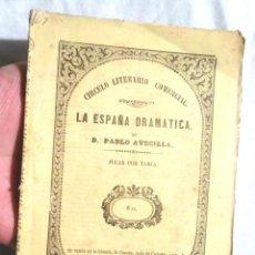 Libros antiguos: JUGAR POR TABLA, COMEDIA CAYETANO ROSELL, JUAN EUGENIO HARTZENBUSCH Y LUIS VALLADARES Y GARRIGA 1860. Lote 107937703