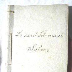Libros antiguos: LO SECRET DEL NUNCI, COMEDIA TEODORO BARÓ 1873DEDICATÒRIA AUTÒGRAFA A ACISCLO SOLER (ISCLE SOLER) . Lote 107937807