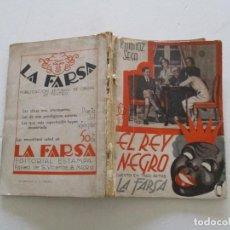 Libros antiguos: MUÑOZ SECA, PEDRO. EL REY NEGRO. RC050. . Lote 108357975