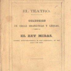 Libros antiguos: PUENTE Y BRAÑAS / ROGEL : EL REY MIDAS - ZARZUELA (J. RODRÍGUEZ, 1870). Lote 108384439