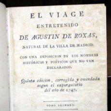 Libros antiguos: EL VIAGE ENTRETENIDO DE... CON UNA EXPOSICION DE LOS NOMBRES HISTÓRICOS Y POÉTICOS QUE NO VAN DECLAR. Lote 109023132