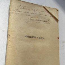 Libros antiguos: FOLLETO DE: SOBRESALTOS Y SALTOS, JUGUETE CÓMICO EN UN ACTO Y EN VERSO- GONZALO CANTÓ-1895. Lote 110230815