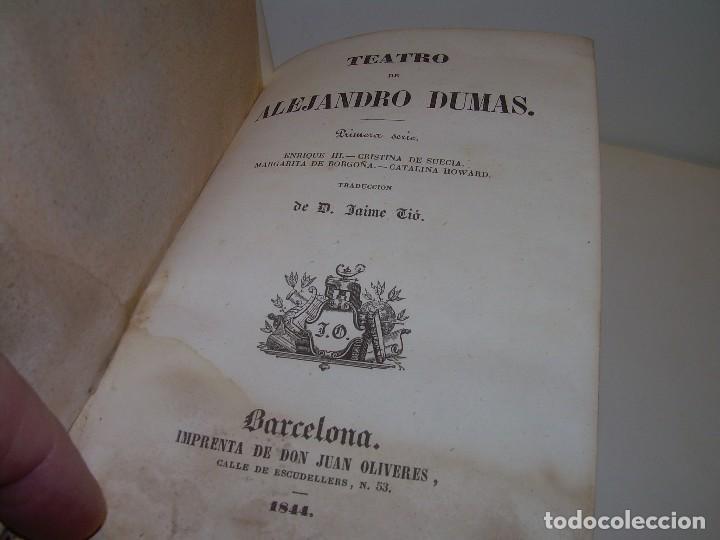 LIBRO TAPAS PIEL.....TEATRO DE ALEJANDRO DUMAS.....AÑO 1844..PRIMERA SERIE (Libros antiguos (hasta 1936), raros y curiosos - Literatura - Teatro)