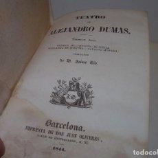 Libros antiguos: LIBRO TAPAS PIEL.....TEATRO DE ALEJANDRO DUMAS.....AÑO 1844..PRIMERA SERIE. Lote 111328839