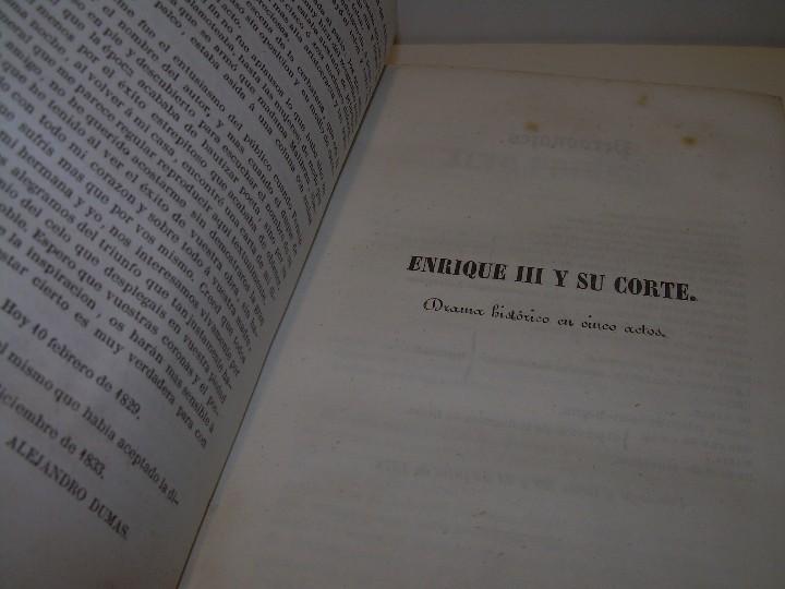 Libros antiguos: LIBRO TAPAS PIEL.....TEATRO DE ALEJANDRO DUMAS.....AÑO 1844..PRIMERA SERIE - Foto 5 - 111328839
