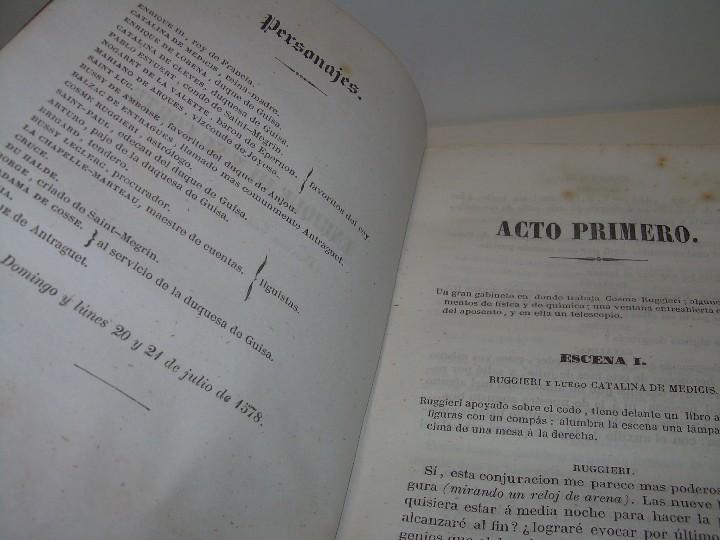 Libros antiguos: LIBRO TAPAS PIEL.....TEATRO DE ALEJANDRO DUMAS.....AÑO 1844..PRIMERA SERIE - Foto 6 - 111328839