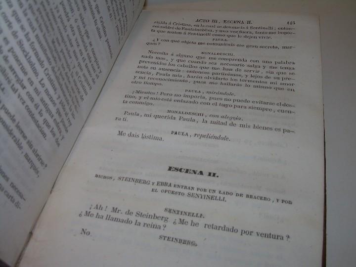 Libros antiguos: LIBRO TAPAS PIEL.....TEATRO DE ALEJANDRO DUMAS.....AÑO 1844..PRIMERA SERIE - Foto 10 - 111328839