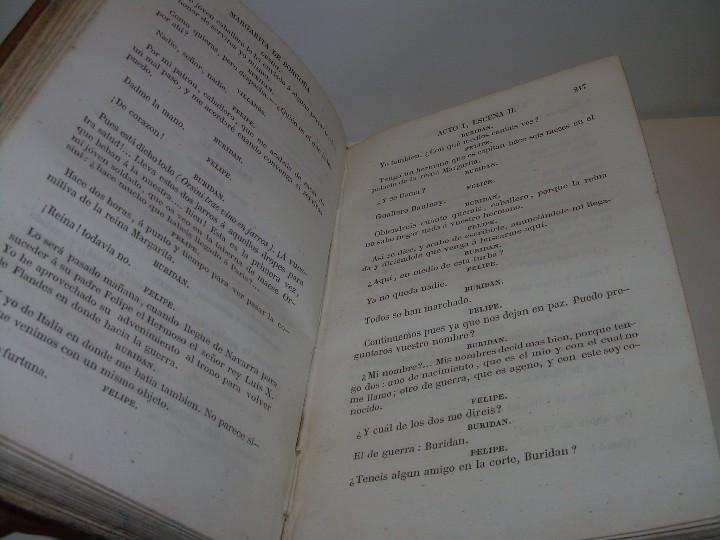 Libros antiguos: LIBRO TAPAS PIEL.....TEATRO DE ALEJANDRO DUMAS.....AÑO 1844..PRIMERA SERIE - Foto 11 - 111328839