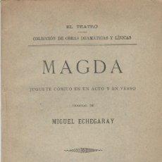 Libros antiguos: ECHEGARAY, MIGUEL: MAGDA. MADRID,FLORENCIO FISCOWICH1896. 1ª EDICIÓN. Lote 93192295