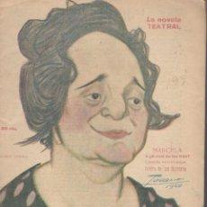 Libros antiguos: BRETON DE LOS HERREROS, MANUEL: MARCELA, O ¿A CUÁL DE LOS TRES?. LA NOVELA TEATRAL Nº199 1920. Lote 112519707
