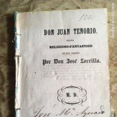 Libros antiguos: DON JUAN TENORIO. 3ª ED. RARÍSIMA. NO EN BIBLIOTECA NACIONAL.. Lote 112857046