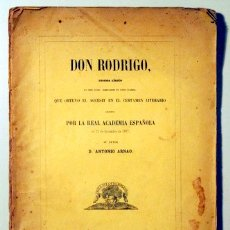 Libros antiguos: ARNAO, D. ANTONIO - DON RODRIGO. DRAMA LÍRICO - MADRID 1859. Lote 113185630