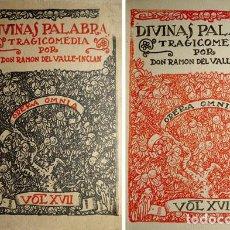 Libros antiguos: VALLE - INCLÁN, RAMÓN MARÍA DEL. DIVINAS PALABRAS. TRAGICOMEDIA DE ALDEA. PRIMERA EDICIÓN. 1920.. Lote 113569791