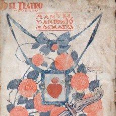 Libros antiguos: MANUEL Y ANTONIO MACHADO : JUAN DE MAÑARA (EL TEATRO MODERNO, 1927). Lote 114271423