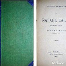 Libros antiguos: ALAS, LEOPOLDO «CLARÍN». RAFAEL CALVO Y EL TEATRO ESPAÑOL. MADRID, 1890.. Lote 116073231