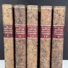 Libros antiguos: CARTAS ERUDITAS Y CURIOSAS DEL THEATRO CRITICO UNIVERSAL. 5 TOMOS. 1773 - 1777.. Lote 116538047