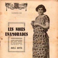 Libros antiguos: AVELÍ ARTÍS : LES NOIES ENAMORADES (ESCENA CATALANA, 1918). Lote 117755335