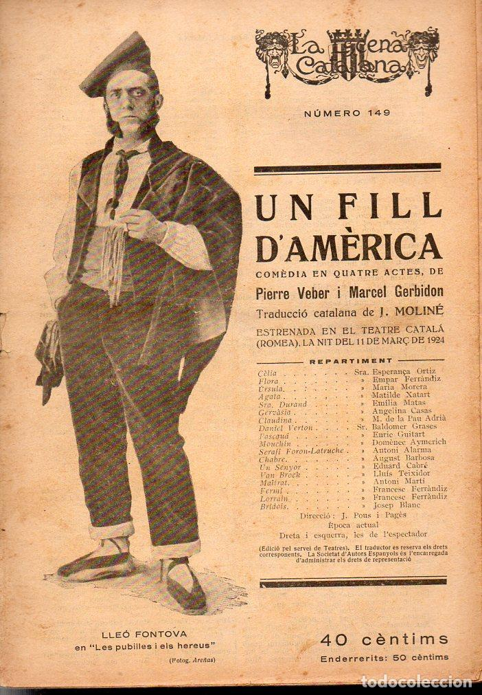 VEBER / GERBIDON : UN FILL D'AMÈRICA (ESCENA CATALANA, 1924) (Libros antiguos (hasta 1936), raros y curiosos - Literatura - Teatro)