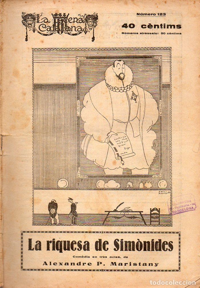 ALEXANDRE MARISTANY : LA RIQUESA DE SIMÒNIDES (ESCENA CATALANA, 1923) (Libros antiguos (hasta 1936), raros y curiosos - Literatura - Teatro)
