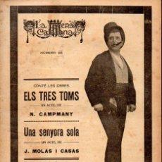 Libros antiguos: CAMPMANY : ELS TRES TOMS (ESCENA CATALANA, 1921). Lote 117756983