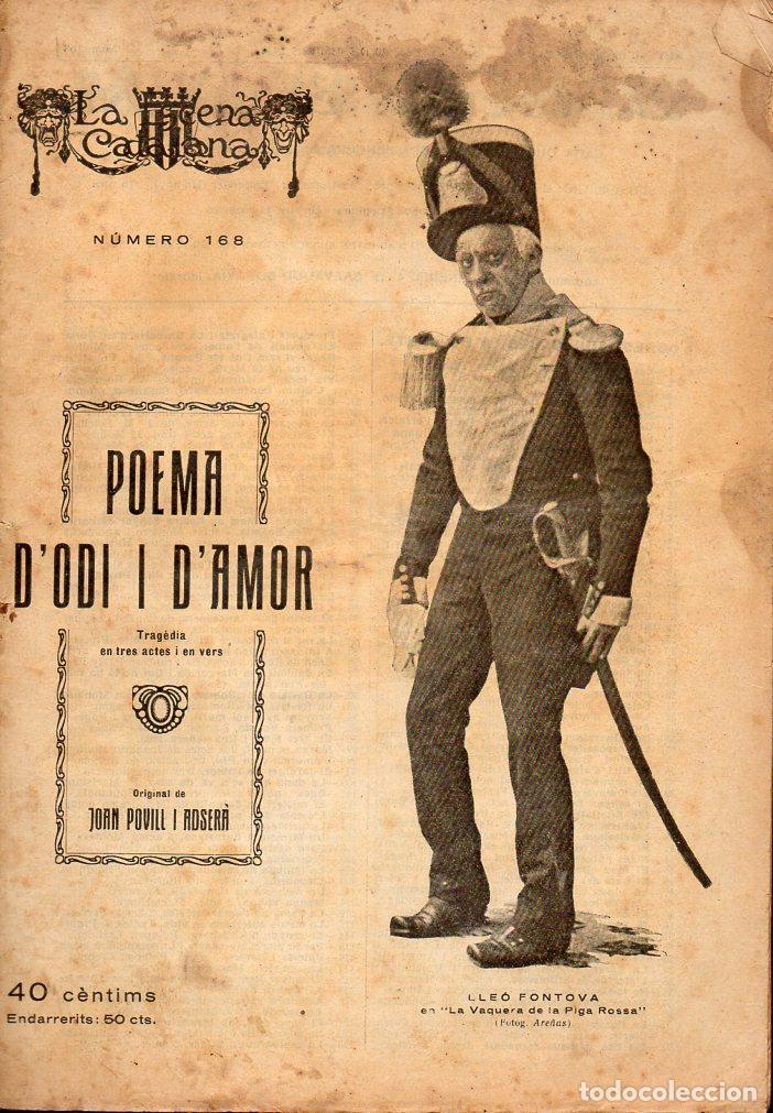 POVILL I ADSERA : POEMA D'ODI I D'AMOR (ESCENA CATALANA, 1924) (Libros antiguos (hasta 1936), raros y curiosos - Literatura - Teatro)